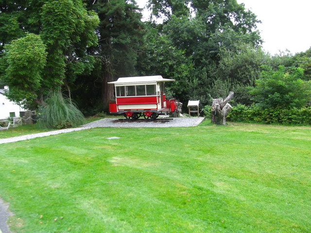 Old Tram at Plas Glyn y Weddw