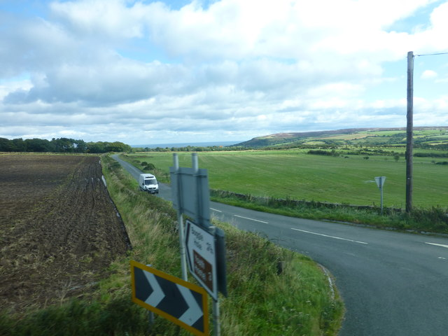 Road junction for Boggle Hole on the A171