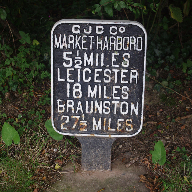 Distance sign, Foxton Junction