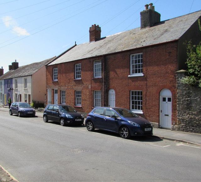 Grade II listed row of three houses, South Street, Bridport