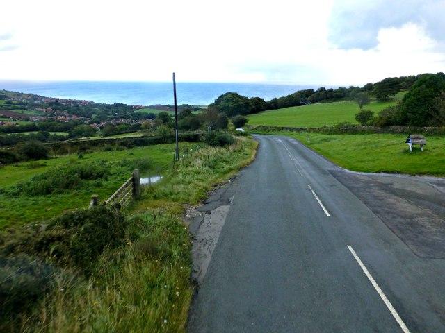 Road into Fylingthorpe near Brow Top