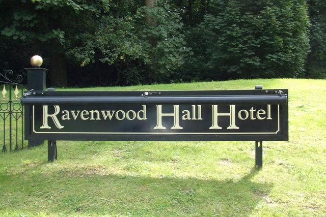 Ravenwood Hall Hotel sign
