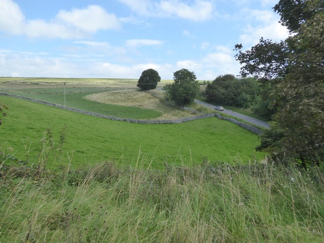B5054 seen from the former railway bridge, now Tissington Trail