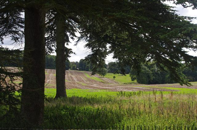 Farmland near Rushton Hall