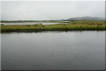 SH5838 : Glaslyn Marshes in rain and mist by Bill Boaden