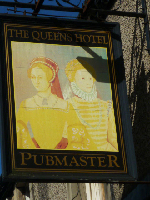 Sign for the Queens Hotel