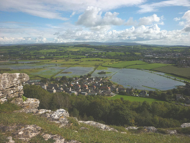Flooded fields by Warton