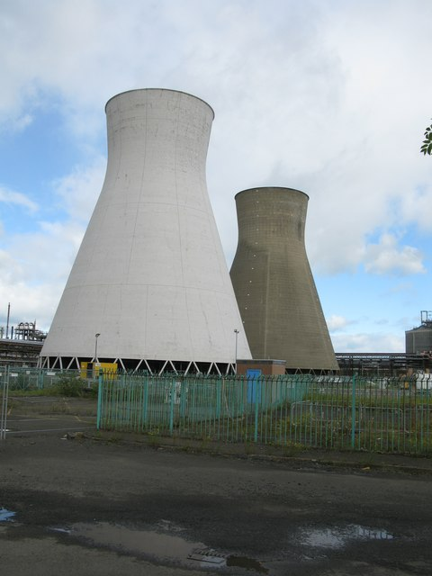 Cooling Towers, INEOS Petrochemical Plant, Grangemouth