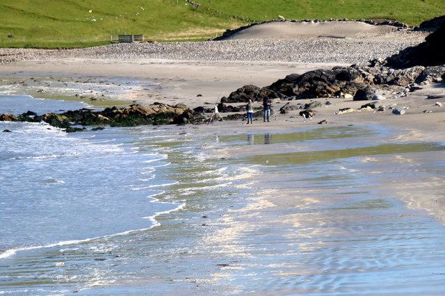 Fishing on Lund beach