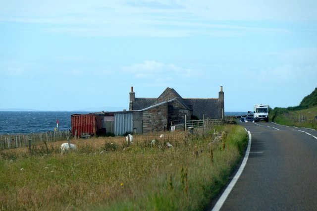 House beside the A9 at Gartymore