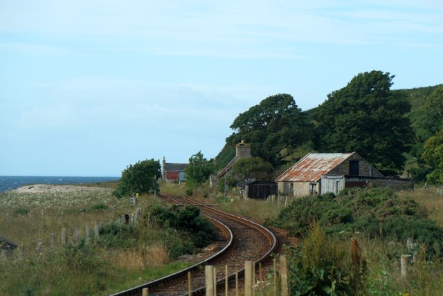 The railway line at Gartymore
