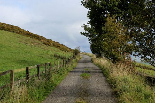 Access Lane to Lower Hambleton Hill Farm