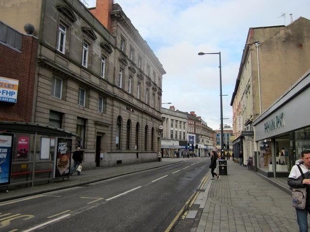 Albert Street Derby HSBC Bank on Left