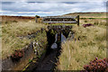 SE0231 : Stone Bridge over the Catchwater Drain on Midgley Moor by Chris Heaton