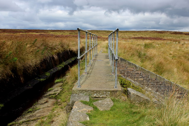 Footbridge Spanning the Overflow on Spa Clough
