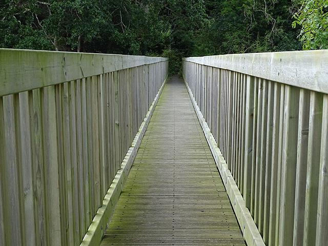 A view across Gamlyn footbridge