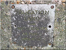 TQ1672 : An 'Education Land' boundary stone description plate in Ham Lands Nature Reserve by John S Turner