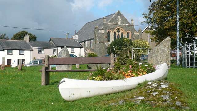 Floral canoe