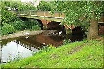 SP0957 : River Arrow at Gunnings Bridge by Derek Harper