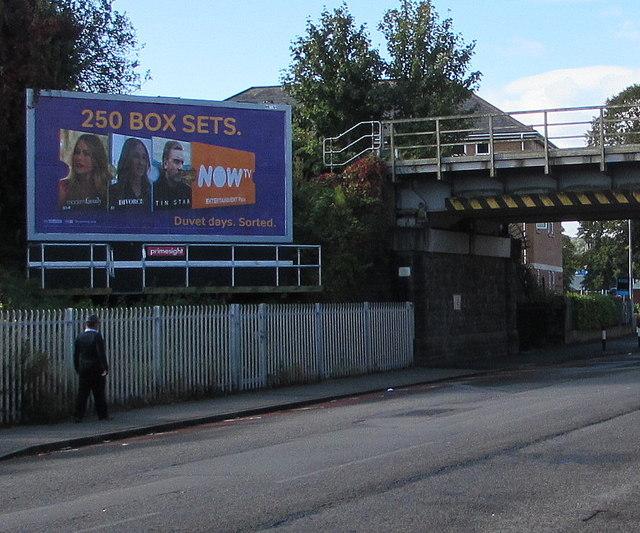 Virgil Street advert for NOW TV, Grangetown, Cardiff