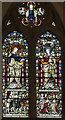 TF2258 : Stained glass window, St Michael's church, Coningsby by Julian P Guffogg