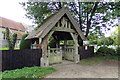 TL9162 : St. Mary's Church Lych Gate by Adrian Cable