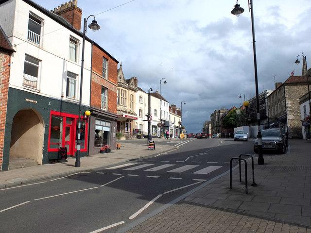 Zebra crossing on High Street, Warminster