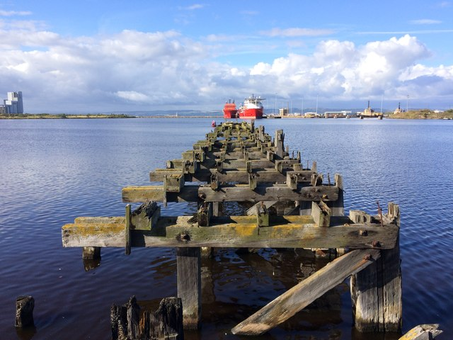 Disused pier, Western Harbour, Port of Leith