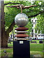 TQ2880 : The Four Loves by Lorenzo Quinn in Berkeley Square by PAUL FARMER
