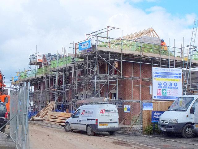 House building on Higher End Close, Billinge