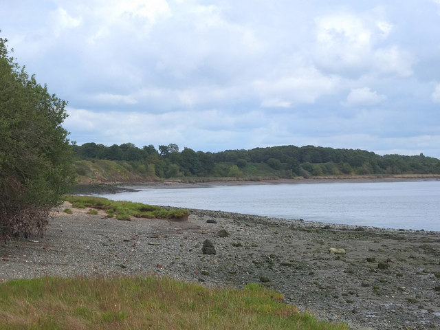 North Bank of The Mersey at Oglet
