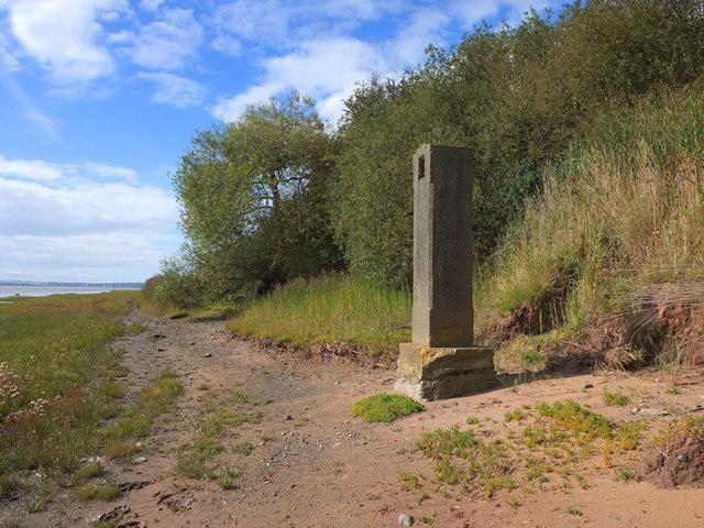 Concrete pillar at Oglet Point