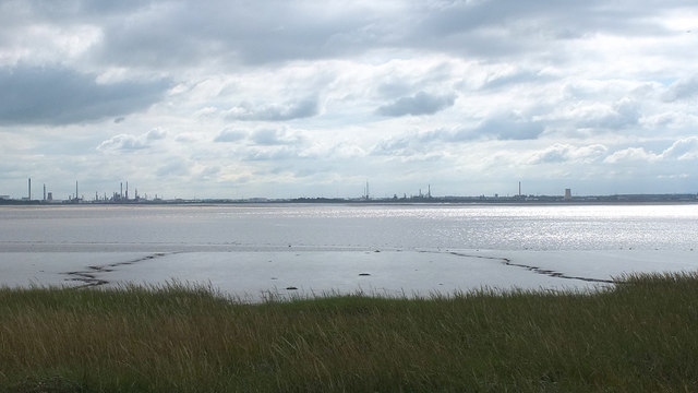 The River Mersey at Oglet Banks, The Red Brow