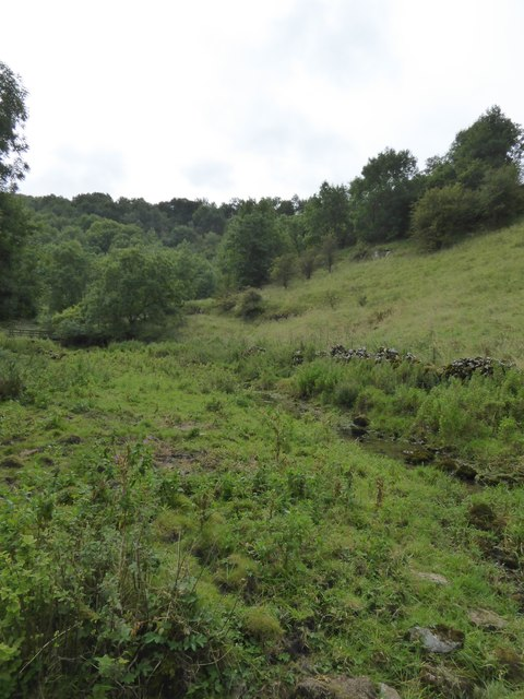 First sign of a stream in Lathkill Dale
