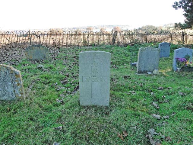 The grave of Gunner Edwin George HARVEY