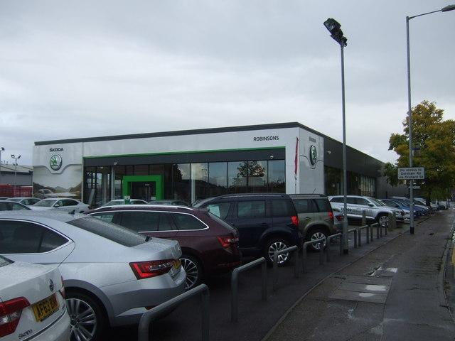 Car dealership on Heigham Street, Norwich
