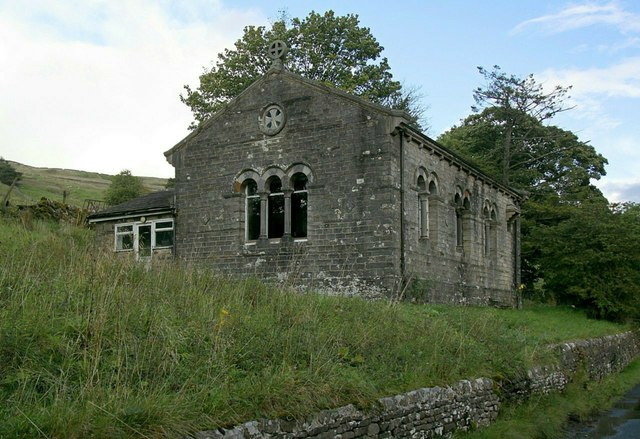 The old school and chapel at Oughtershaw