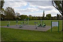TQ2688 : Exercises, Lyttleton Playing Fields by N Chadwick