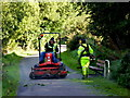 H4772 : Ground maintenance team, Mullaghmore by Kenneth  Allen