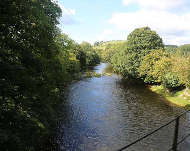 Afon Banwy from railway bridge