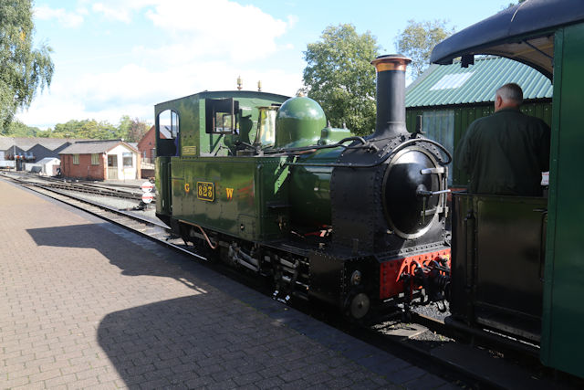 Countess awaiting departure for Welshpool