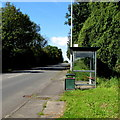 ST0880 : Robin Hill bus stop and shelter near Creigiau by Jaggery