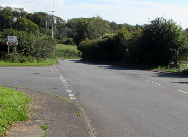 Junction of Llantrisant Road and Cardiff Road south of Creigiau