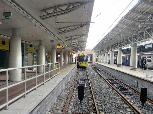 Metrolink terminal at Manchester airport
