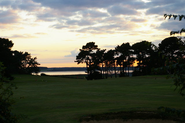 Aldeburgh golf club: view across the River course down to the Alde