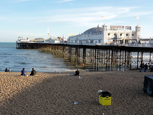 Brighton Pier in the Evening Sunlight