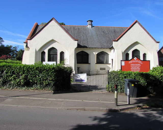 Grade II listed Creigiau Church Hall, Creigiau