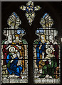 TF1963 : Stained glass window, St Peter's  church, Woodhall Spa by Julian P Guffogg