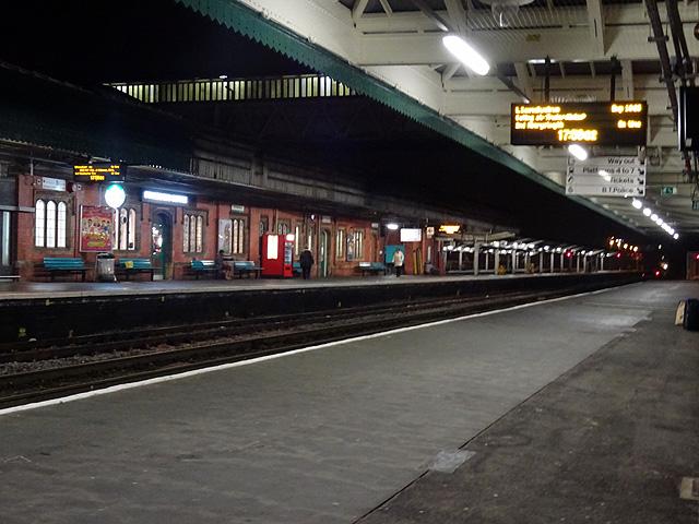 A morning view of Shrewsbury Station