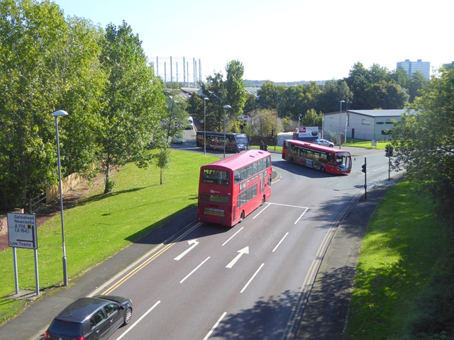 Junction of Clockmill Road (A1114) with Team Street